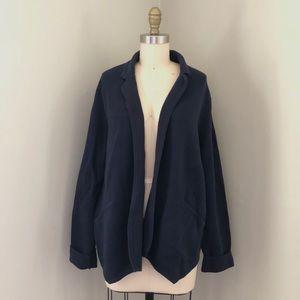 LOFT Ann Taylor Blue Knit Cardigan Blazer Sweater